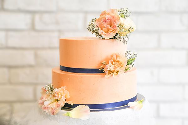 Fresh Flowers 2 Tier Wedding Customised Cake