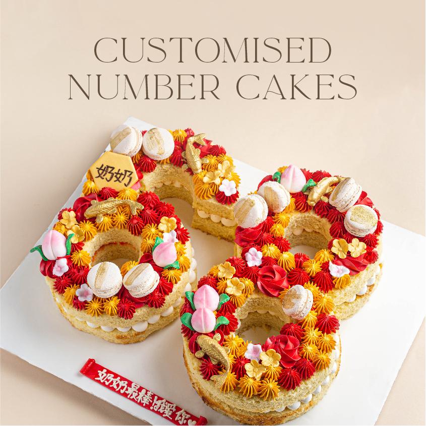 Customised Number Cakes