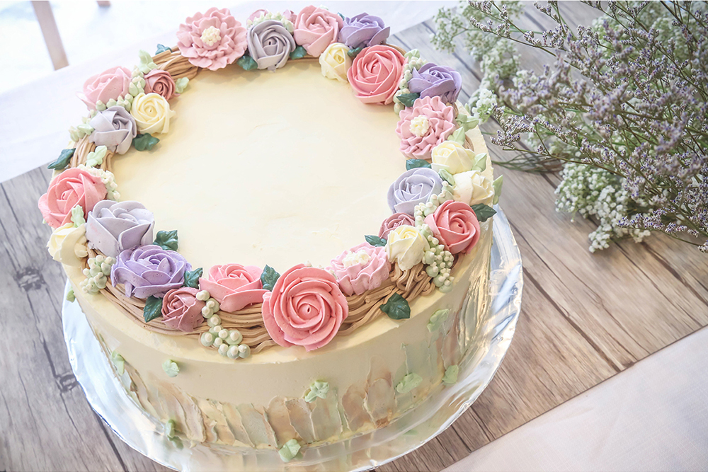 Floral series customised cakes bakers brew studio singapore gallery mightylinksfo