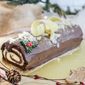 Chocolate Mint Christmas Log Cake Singapore