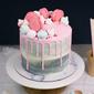 Best Macaron Drip Swirl Birthday Cake Singapore