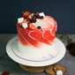Best Rustic Fruity Ruby Swirl Birthday Cake Singapore