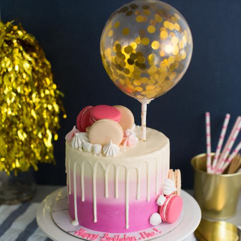 Ombre Pink Confetti Balloon