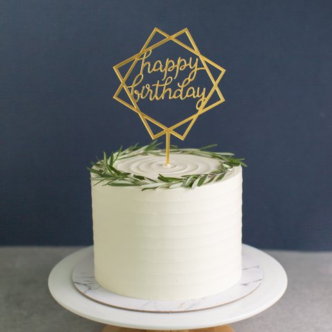 Geometric Happy Birthday (Gold)