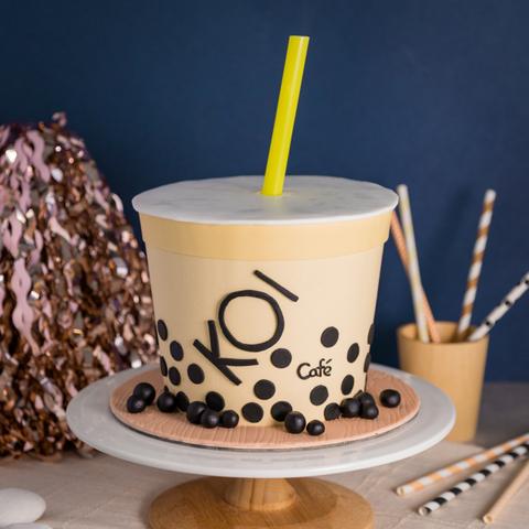 Bubble Tea Cake - KOI