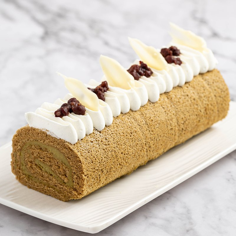 Hojicha Swiss Roll   Online Cake Delivery Singapore   Baker