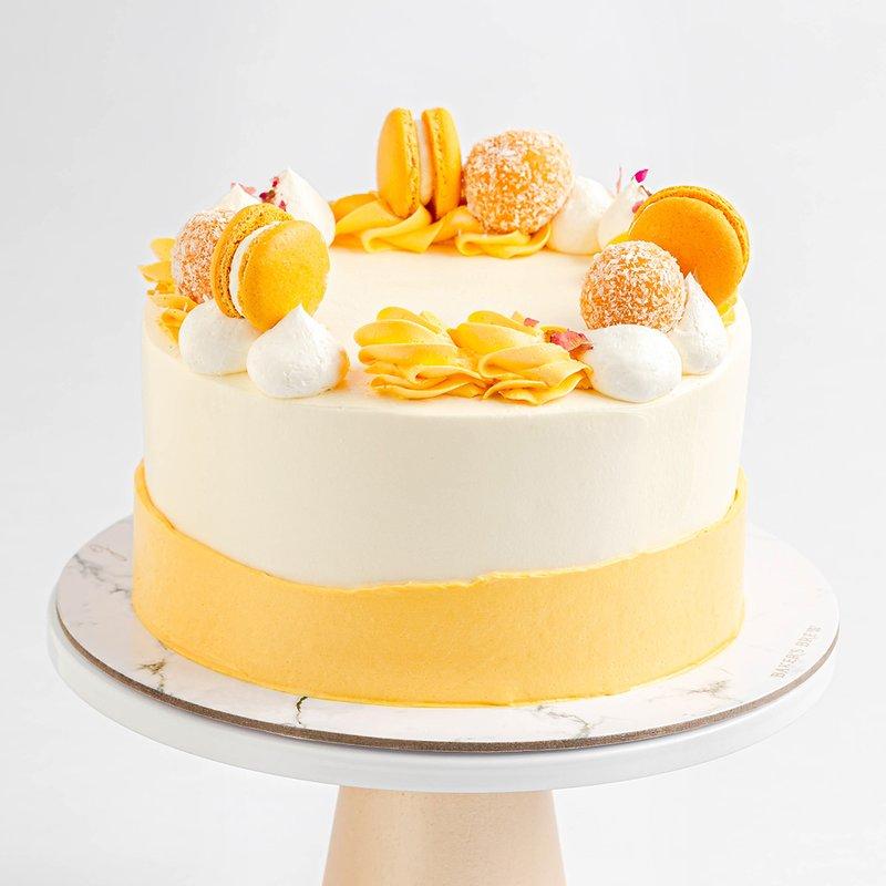 Lychee Mango Cake | Online Cake Delivery Singapore | Baker