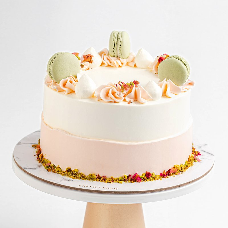 Roasted Pistachio and Rose Cake | Online Cake Delivery Singapore | Baker