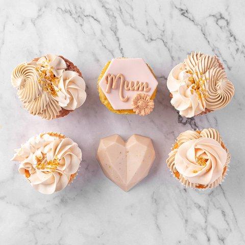 Ivory Blush Dainty Cupcakes