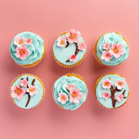 Sakura Blossom Cupcakes