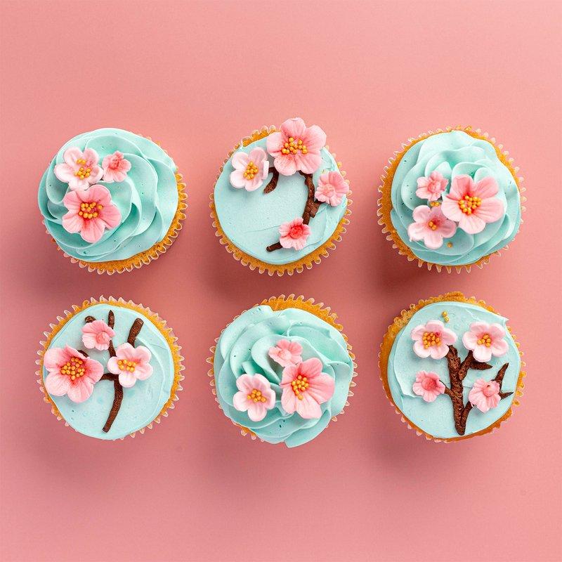 Sakura Blossom Cupcakes | Online Cake Delivery Singapore | Baker