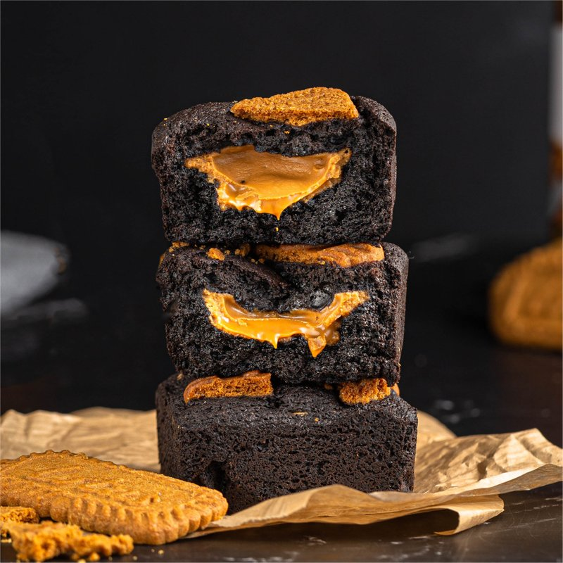 Lotus Biscoff Blackout Brownies | Online Cake Delivery Singapore | Baker's Brew