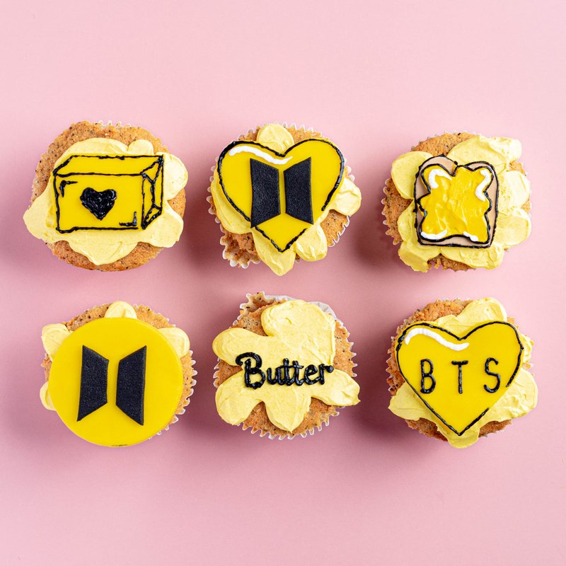 BTS Butter Cupcakes | Online Cake Delivery Singapore | Baker
