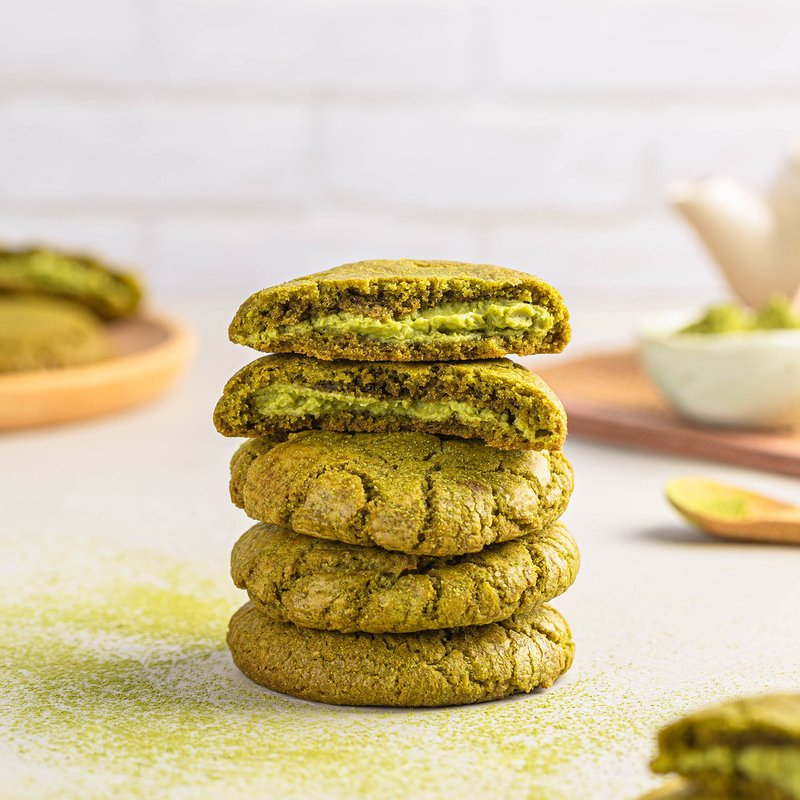 Matcha White Chocolate Cookies | Online Cookie Delivery Singapore | Baker