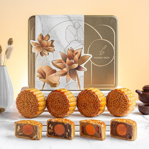 Golden Twilight Mooncake Collection (Assorted Box of 4)