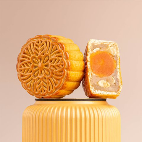 Oriental Jade Mooncakes (White Lotus w/ Single Yolk)