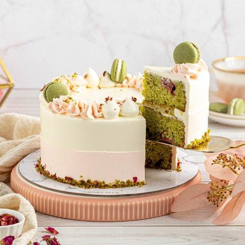 Roasted Pistachio and Rose Cake