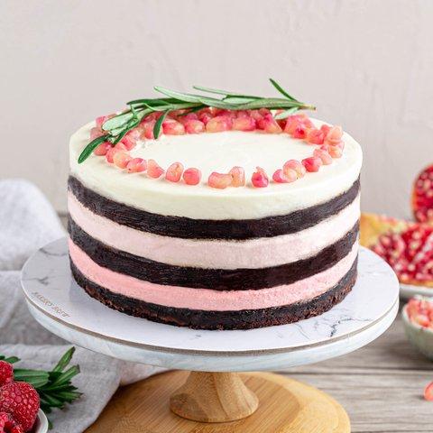 Vegan Chocolate Pomegranate Cake 5