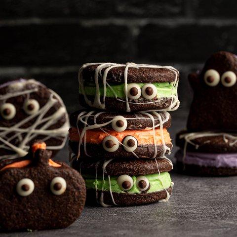 Mummy Cookie Sandwiches