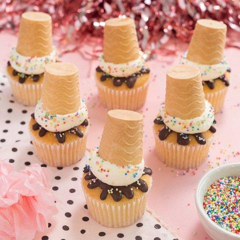 Funfetti Sundae Cupcakes